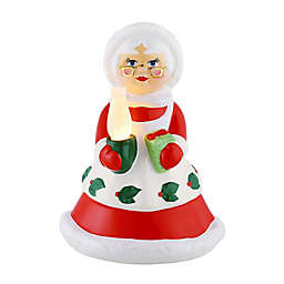 Mr. Christmas® 10-Inch Mrs. Claus Pre-Lit Nostalgic Ceramic Figure in Red