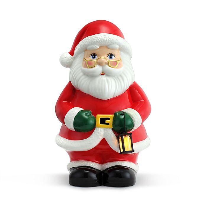 Mr Christmas 12 Inch Nostalgic Ceramic Led Lit Santa Figure In Red Bed Bath Beyond