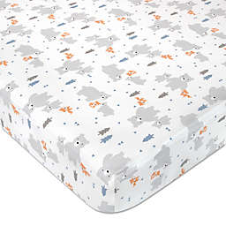 Wendy Bellissimo™ Mix & Match Woodland Best Friend Bears Crib Sheet in Cream