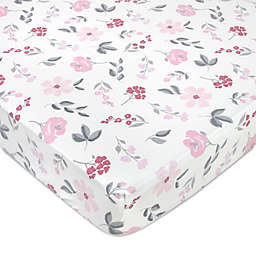 Wendy Bellissimo™ Mix & Match Wildflowers Crib Sheet in Cream