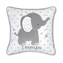 Wendy Bellissimo™ Mix & Match Lil Elephant Square Throw Pillow in White/Grey
