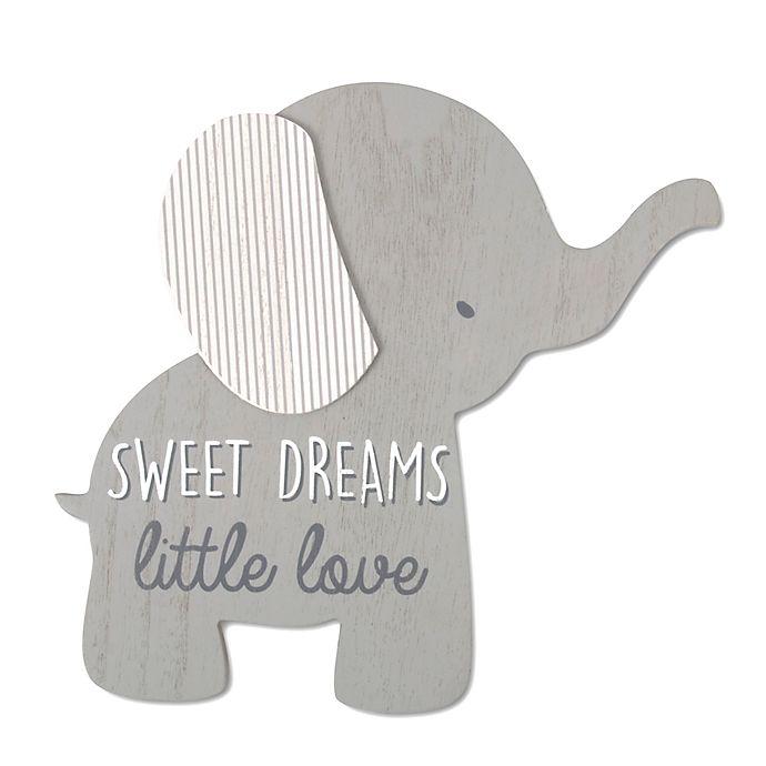 Alternate image 1 for Wendy Bellissimo™ 12-Inch x 8-Inch Lil Elephant Sweet Dreams Wall Art in Grey