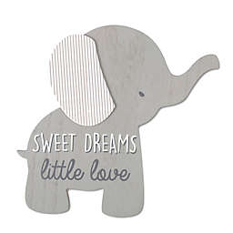 Wendy Bellissimo™ 12-Inch x 8-Inch Lil Elephant Sweet Dreams Wall Art in Grey
