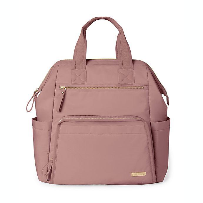 Alternate image 1 for SKIP*HOP® Mainframe Wide Open Backpack Diaper Bag in Pink