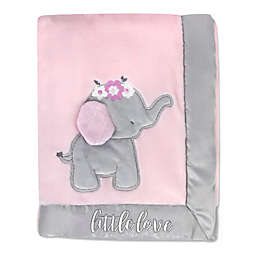 Wendy Bellissimo™ Mix & Match Little Love Elephant Plush Blanket in Pink