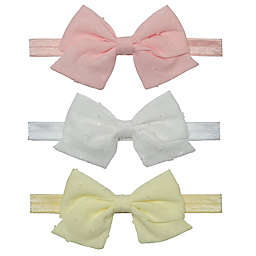So' Dorable Size 24M 3-Piece Headband Bows