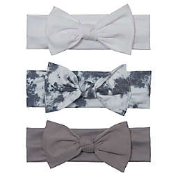 So' Dorable 3-Pack Tie Dye Headbands in Grey