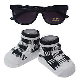 So' Dorable Size 0-12M Sunglasses with Checker Booties 2-Piece Set