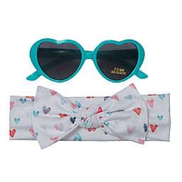 So' dorable Heart Headband and Sunglasses Set