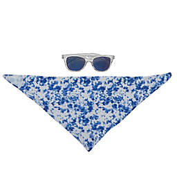 So' dorable 2-Piece Sunglasses and Tie-Dye Bandana Big in Blue