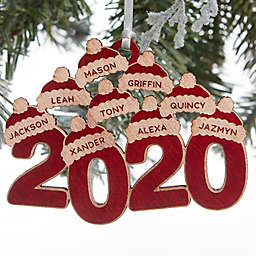 2020 Wood 3.5-Inch 9-Name Personalized Christmas Ornament