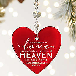 Heaven In Our Home 3.5-Inch Glass Christmas Ornament