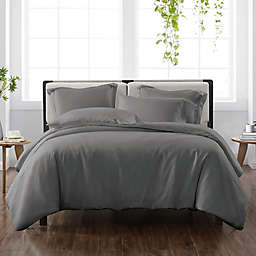 Cannon® Heritage Solid 2-Piece Reversible Twin XL Duvet Cover Set in Grey
