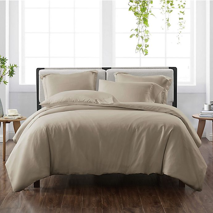 Alternate image 1 for Cannon® Heritage Solid 3-Piece Reversible Full/Queen Duvet Cover Set in Khaki