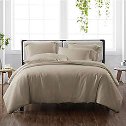 Cannon® Heritage Solid 3-Piece Reversible Full/Queen Duvet Cover Set in Khaki