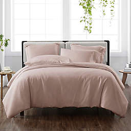 Cannon® Heritage Solid 2-Piece Reversible Twin XL Duvet Cover Set in Blush