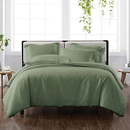 Cannon® Heritage Solid 3-Piece Reversible King Duvet Cover Set in Green