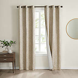 Eclipse Branches 2-Pack 63-Inch Grommet 100% Blackout Window Curtain Panels in Champagne