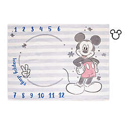 Disney® Mickey Mouse Milestone Baby Blanket in Light Blue