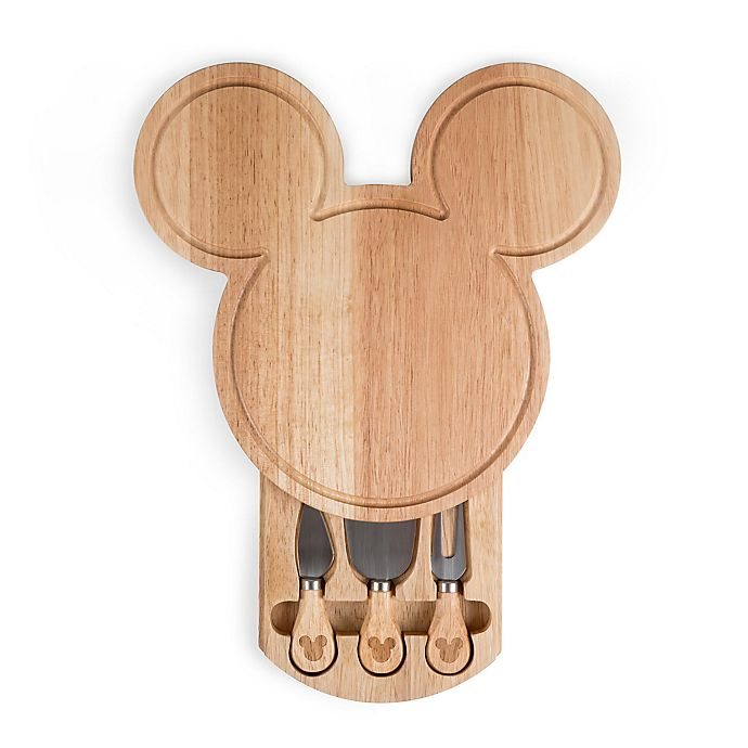 Alternate image 1 for Picnic Time® Mickey Mouse Head-Shaped Cheese Board