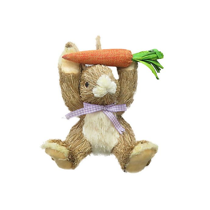 Alternate image 1 for 9-Inch Natural Woodland Carrot Easter Bunny Figurine