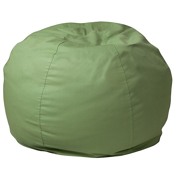 Alternate image 1 for Flash Furniture Small Solid Bean Bag Chair in Green
