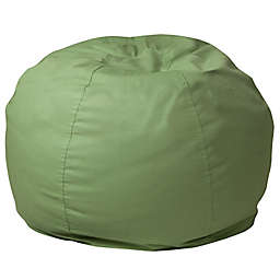 Flash Furniture Small Solid Bean Bag Chair in Green