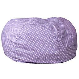 Flash Furniture Dot Oversized Bean Bag Chair Lavender Dot