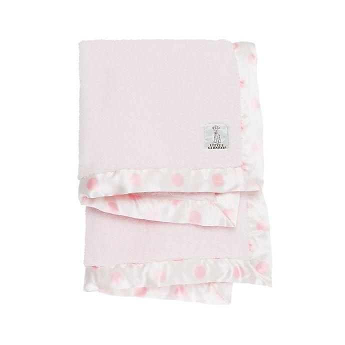 Alternate image 1 for Little Giraffe® New Dot™ Chenille Blanket in Pink