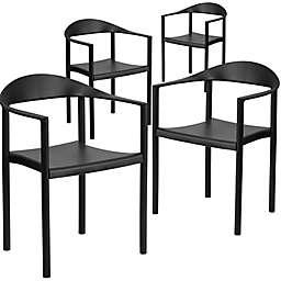 Flash Furniture Plastic Café Chair (Set of 4)
