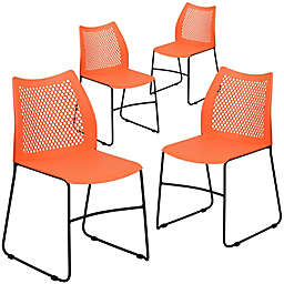 Flash Furniture Plastic Vented Stack Chairs (Set of 4)