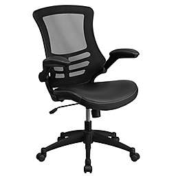 Flash Furniture Mid-Back Mesh Task Chair with Faux Leather Seat