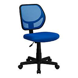 Flash Furniture Mesh Low Back Swivel Task Chair in Blue