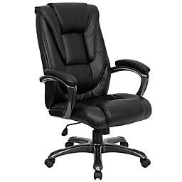 Flash Furniture High-Back Leather Executive Office Chair in Black