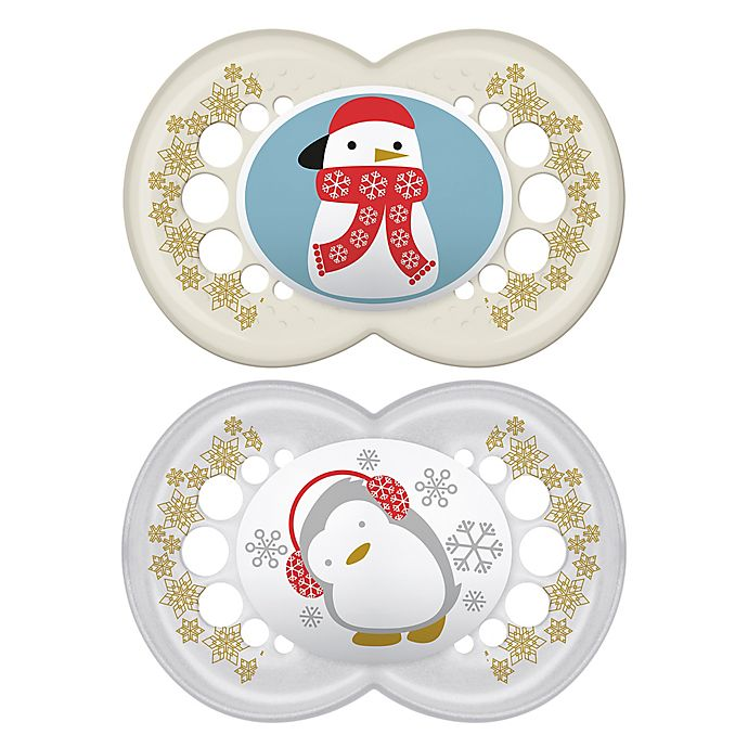 Alternate image 1 for MAM 2-Pack Holiday Pacifiers