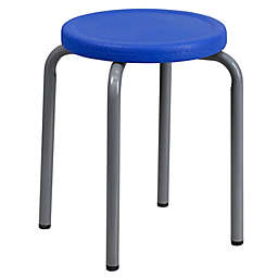 Flash Furniture Stackable Stool in Blue/Grey