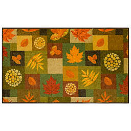Mohawk Home Squares Fall Leaves Multicolor Accent Rug