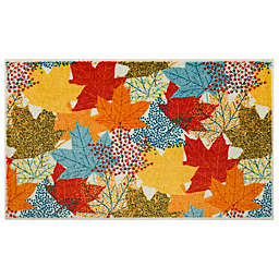 Mohawk Home Multicolor Leaves Accent Rug