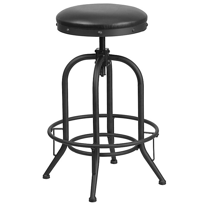 Alternate image 1 for Flash Furniture Bar Stool with Swivel Lift in Black