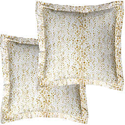Pointehaven Modern Snakes Euro Pillow Shams (Set of 2)