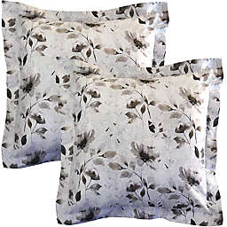 Pointehaven Night Garden Euro Pillow Shams (Set of 2)
