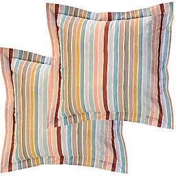 Pointehaven Soft Stripes Euro Pillow Shams (Set of 2)