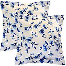 Pointehaven Water Petals Euro Pillow Shams (Set of 2)