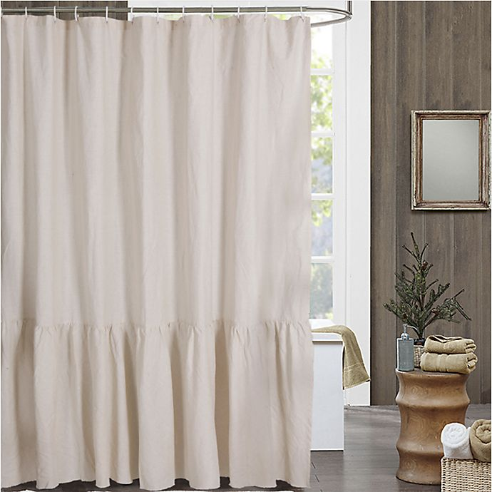 Alternate image 1 for Bee & Willow™ Home Ruffled Edge Shower Curtain