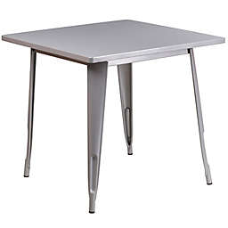 Flash Furniture 31.5-Inch Square Metal Indoor-Outdoor Table