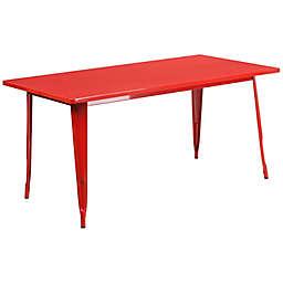 Flash Furniture Indoor/Outdoor Metal Table in Red
