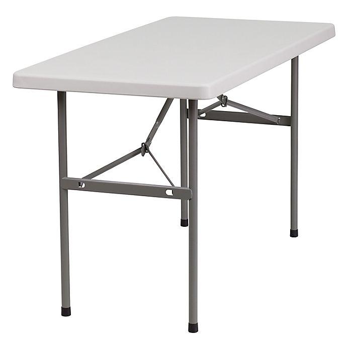 Alternate image 1 for Flash Furniture 4-Foot Rectangular Folding Table in Granite White