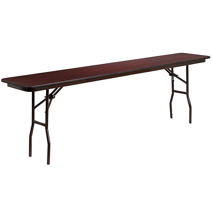 Alternate image 1 for Flash Furniture Rectangular Wood Folding Table in Mahogany