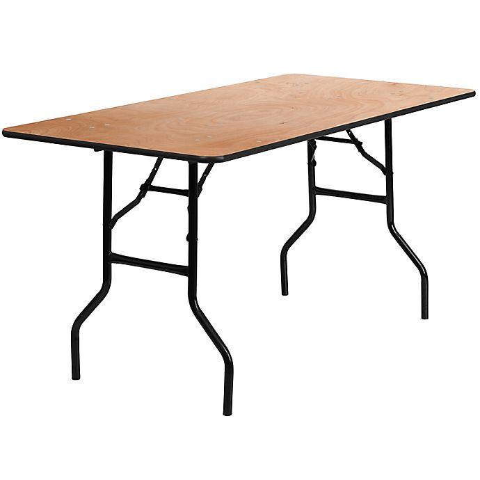 Alternate image 1 for Flash Furniture Rectangular Wood Folding Banquet Table in Natural