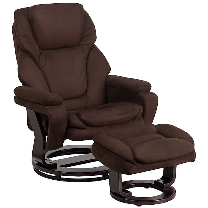 Flash Furniture Contemporary Swivel, Flash Furniture Reclining Office Chair With Ottoman